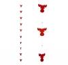 Ghirlanda di feltro «Testa di alce», rossa