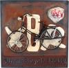 Quadro di latta «Bicicletta», stile nostalgico